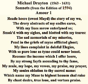 Michael Drayton, Sonnets, 1594, Amour 1, pltxt, #3