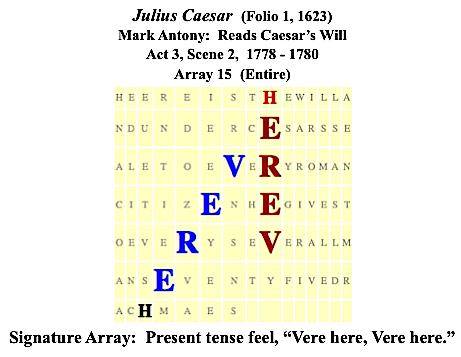 Julius Caesar, 3.2., Antony reads Caesar's Will, Vere here, Vere here, #2