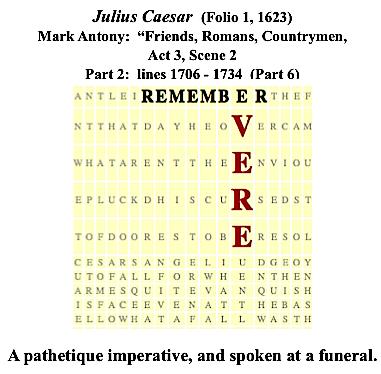 Julius Caesar, 3.2., Friends...Remember Vere, #5
